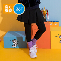 【新品半价抢鲜:110】361度童装 女童裙裤2019年秋季新品裤裙薄款裙 碳黑N61933581
