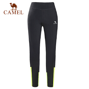 camel骆驼运动女款针织长裤 春夏弹力透气耐磨健身针织裤