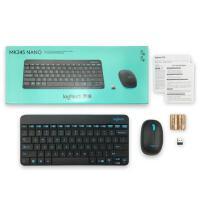 【支持当当礼卡】罗技MK245 Nano 键鼠套装 无线键鼠套装 办公键鼠套装 黑色 带无线2.4G接收器