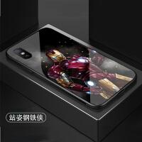 复仇者联盟小米8se手机壳漫威美国队长小米mix2s欧美潮牌蜘蛛侠max3玻璃防摔个性钢