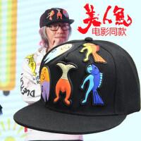 男女士创意图案帽子棒球帽 情侣嘻哈帽男女户外防晒遮阳棒球帽平沿帽潮