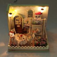 那家DIY小屋模型男女生日创意礼物迷你手工制作房子建筑小猫日记