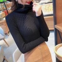 高领毛衣女2018新款秋冬装套头上衣长袖加厚修身打底衫白色针织衫