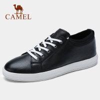 【下单立减120元】camel 骆驼男鞋春季新品时尚英伦舒适板鞋男真皮牛皮休闲潮鞋