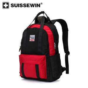 【SUISSEWIN旗舰店 支持礼品卡支付】学生专用书包中学生高中生多功能时尚背包双肩包手提两用包