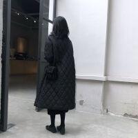 2019秋冬韩版羽绒棉服女过膝宽松加长款轻薄款外套女学生潮