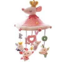 婴儿床铃生肖玩具新生儿音乐旋转毛绒布艺安抚床头铃
