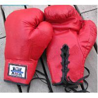 精美时尚大方运动训练手套打拳散打泰拳拳套系绳猪皮格斗拳击手套