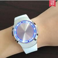 韩版手表 触屏智能男女款电子表 情侣表 时尚潮流夜光男士电子表简约皮带女款学生手表