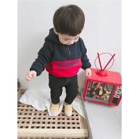 宝宝厚卫衣男1-3岁冬装保暖连帽外套上衣潮