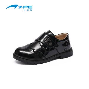 七波辉男童鞋 儿童校园演出鞋 学生表演鞋男童黑色皮鞋