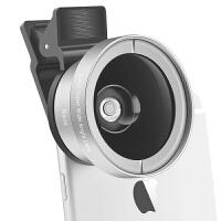 Liweek 手机镜头超广角微距套装自拍照相苹果iphone6s通用单反外置摄像头iphone7超广角镜头 银色
