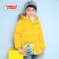 【领券立减100】托马斯童装男童冬装中长款羽绒服加厚