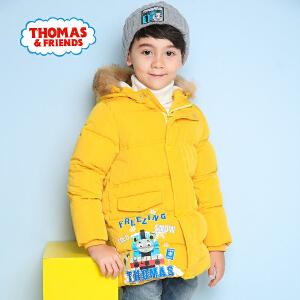 【满200减110】托马斯童装儿童羽绒服男童中长款男中童加厚冬装外套