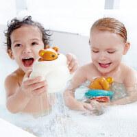 Hape泰迪洒水云迷藏游戏+发条游泳泰迪1-6岁宝宝洗澡玩具戏水浴室玩具婴幼玩具Suit0031