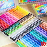【单件包邮】得力可水洗水彩笔 三角正姿笔杆大容量粗笔画水彩笔儿童无毒画笔