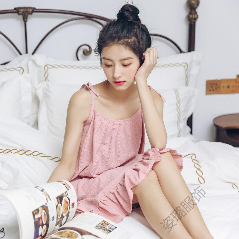 吊带睡衣女夏可爱公主夏季学生韩版宽松少女清新夏天吊带睡裙睡裙 发货周期:一般在付款后2-90天左右发货,具体发货时间请以与客服协商的时间为准