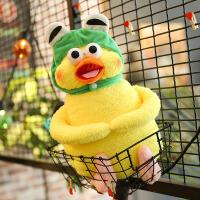 可爱鹦鹉兄弟公仔表情包抱枕毛绒玩具玩偶女生生日礼物一对小黄鸡 青蛙帽子