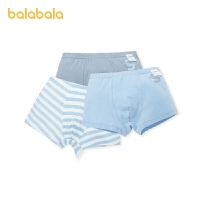 【1件6折价:32.9】巴拉巴拉男童内裤平角裤棉儿童中大童宝宝亲肤舒适3条装