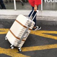2018新款行李箱铝框拉杆箱旅行箱包万向轮女24寸韩版男20密码登机皮箱子26 29寸【托运 出国】