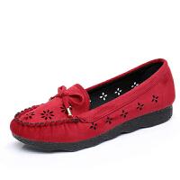 l老北京鞋女鞋平底软底单鞋百搭舒适黑色工作鞋女休闲鞋