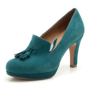 Clarks/其乐女鞋2017秋冬新款流苏时尚高跟单鞋Alma Kendra专柜正品直邮