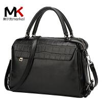 【送手包】莫尔克新款女包单肩包石头纹软皮大包女斜跨包枕头包欧美波士顿女包货到付款