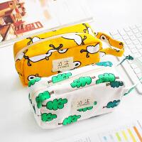 大容量笔袋韩国简约女生小清新可爱文具袋女创意可爱初中生文具盒