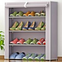 【3.26大牌日1件5折到手价15.9】索尔诺简易防尘鞋架 加厚无纺布鞋柜 组合4层鞋橱