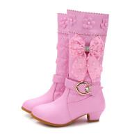 女童靴子2017年冬季新款公主靴儿童马丁靴蝴蝶结单靴小女孩高筒靴