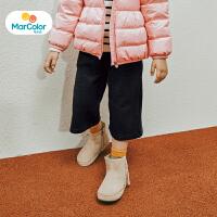 【1件2折】马卡乐童装女童宝宝秋新品阔腿七分裤时尚搭配个性洋气靴裤