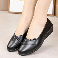 春款妈妈鞋单鞋软底软中老年女鞋孕妇女士工作鞋