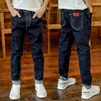 中大童装男童牛仔裤秋冬裤子长裤