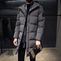 冬季男士中长款大码棉衣男2018新款韩版修身连帽棉服外套潮流冬装棉袄