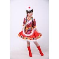 六一儿童藏族舞蹈服装演出服水袖女唱歌服新款表演服幼儿少数民族