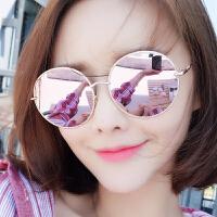 新款圆形太阳镜女士潮个性墨镜圆脸优雅时尚眼镜