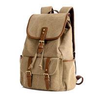 双肩包女包 潮帆布包男包学院风学生书包背包旅行大包包