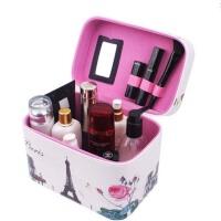 化妆品收纳箱便携化妆包收纳盒手提化妆箱收纳包