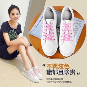 ZHR2017春季新款真皮小白鞋女韩版厚底板鞋学生平底单鞋休闲鞋潮G100