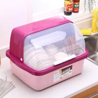 厨房碗柜塑料沥水碗架带盖箱餐具放碗筷碗碟架盘滴水收纳盒置物架