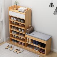 【限时直降3折】衣帽架组合换鞋架经济型整理架进门口玄关式衣柜衣架鞋柜一体