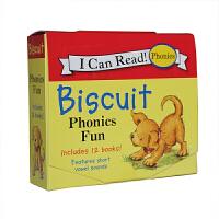 顺丰发货 I can read Biscuit Phonics Fun趣味拼读小饼干盒装 滑稽的动作,生动的故事和简单的图片,惹人喜爱的姜黄色小狗小饼干系列