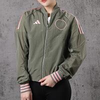 幸运叶子 Adidas阿迪达斯女装春季运动夹克休闲立领外套女FI6720