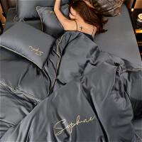 床上四件套北欧风纯棉全棉床单被套长绒棉床上用品 2.0m(6.6英尺)床 床单款