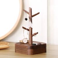 创意摆件耳环手表饰品收纳盒家用挂钥匙架