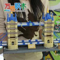 万格儿童益智拼插积木玩具 组装 世界建筑 伦敦双子桥