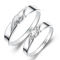 情侣戒指一对价 925银对戒子创意韩版刻字