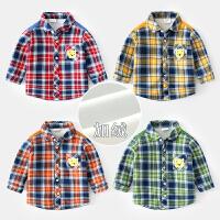 男童格子衬衫儿童上衣冬装宝宝长袖衬衣