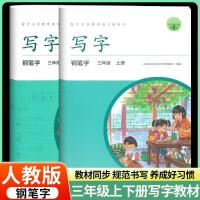 写字教材三年级上册下册人教版钢笔字2本人教版 小学语文生字同步练字帖3年级上册