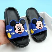 儿童凉拖鞋夏季卡通迪士尼男女童拖鞋软底宝宝洗澡米奇拖鞋